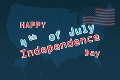 Ourth of July, United Stated independence day greeting. July 4th typographic design. Usable for greeting cards, banners. Fourth of July, United Stated Royalty Free Stock Photography