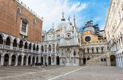 Сourtyard of Doges Palace (Palazzo Ducale) in Venice Stock Photo