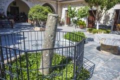 Сourtyard of Monastery Kera Kardiotissa Royalty Free Stock Photo