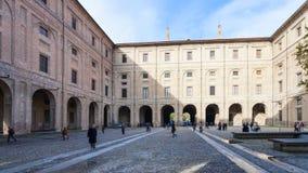 Ourtyard of Palazzo della Pillotta in Parma city Royalty Free Stock Photos