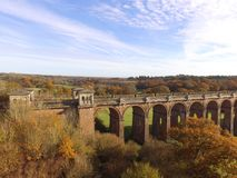 Ouse Valley Viaduct in Sussex. Built in 1841 the Ouse Valley Viaduct over the River Ouse on the London to Brighton railway line. When constructed it used over Royalty Free Stock Photo