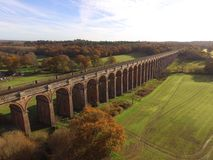 Ouse Valley Viaduct in Sussex. Built in 1841 the Ouse Valley Viaduct over the River Ouse on the London to Brighton railway line. When constructed it used over Stock Photography