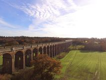 Ouse Valley Viaduct in Sussex. Built in 1841 the Ouse Valley Viaduct over the River Ouse on the London to Brighton railway line. When constructed it used over Stock Photos
