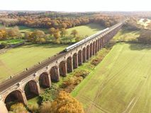 Ouse Valley Viaduct in Sussex. Built in 1841 the Ouse Valley Viaduct over the River Ouse on the London to Brighton railway line. When constructed it used over Royalty Free Stock Photography