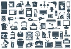 Нousehold appliances icons Royalty Free Stock Photo