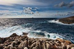 Ouside il Grotto blu, Malta Immagine Stock Libera da Diritti