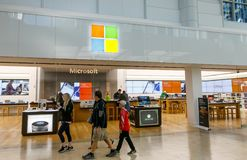 248a59272e4 Microsoft Store In Prudential Center Editorial Stock Photo - Image of  inside
