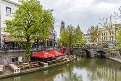 Ouside Restaurant at Utrecht Stock Photos