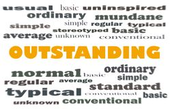 Oustanding word cloud concept Royalty Free Stock Photos