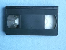 VHS OLD VIDEO CASSETES stock image
