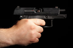 Out of ammo. After last shoot. Handgun out of ammo Royalty Free Stock Photo