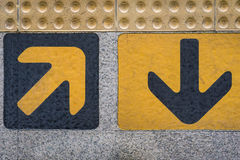 In and out arrows sign Stock Photos