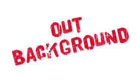 Out Background rubber stamp Royalty Free Stock Photography