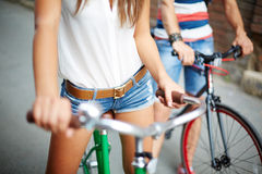 Out on bicycles Royalty Free Stock Photo