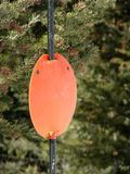 Out of Bounds. Marker on a trail at a ski resort stock images