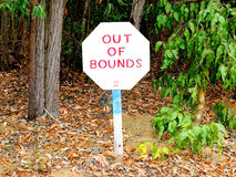 Out of bounds sign Stock Images