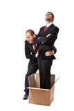 Out of the box coworker royalty free stock photos