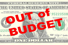 Out of Budget concept Royalty Free Stock Photography