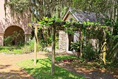 An out building located on the grounds of the Gonzalez Alvarez House in Historic St. Augustine, Florida. This is an image of the Gonzalez Alvarez House in Stock Image