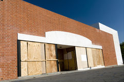 Out of Business. Sign of the Times: Abandoned Big-Box Store Royalty Free Stock Photos