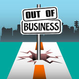 Out of business Stock Photography