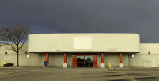 Out of Business Retail Store. Empty retail store as a result of the economic recession Stock Photo
