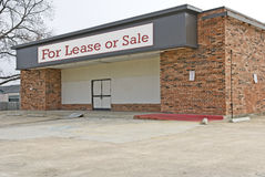 Out of Business. An out of business store that is for lease or sale Stock Images
