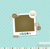 Out of color scrap vintage card. With photo frame royalty free illustration