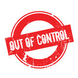 Out Of Control rubber stamp Stock Images