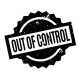 Out Of Control rubber stamp Royalty Free Stock Images