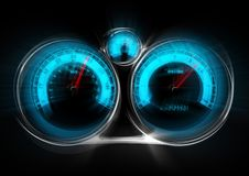 Out of  Control Speedometer Royalty Free Stock Photography