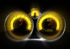 Out of  Control Speedometer Stock Image