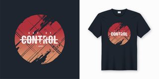 Out of control stylish abstract vector t-shirt and apparel desig Royalty Free Illustration