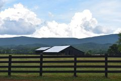 Country Drive into Georgia and found some Amazing old Barns. While out for a Country Drive into Georgia I found some Amazing old Barns royalty free stock photo