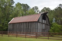 Country Drive into Georgia and found some Amazing old Barns. While out for a Country Drive into Georgia I found some Amazing old Barns stock photos
