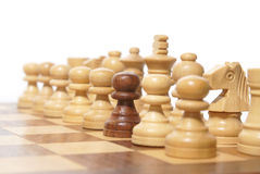Out of the crowd. (chess composition stock photo
