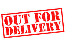OUT FOR DELIVERY Stock Images
