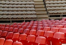Out door theater. Empty chairs in Arena Theater royalty free stock images