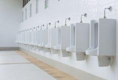 Out door Urinals Mens public toilet Stock Image