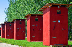 Out Door Washrooms royalty free stock image