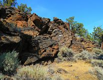 Out At the Dusty Loop. Rock formations along Dusty Loop Road - near Tumalo, OR Stock Image