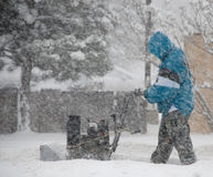 Out in the Elements During a Snowstorm royalty free stock photo