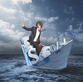 Out of the financial crisis Stock Image