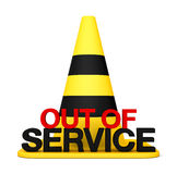 Out fo service. 3d sing Stop symbol danger Stock Image