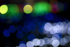 Out focus. It is real out focus in the dark night Royalty Free Stock Photos