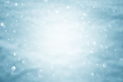 Out of focus abstract blurred blue snow bokeh royalty free stock photos