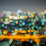 Out of focus big city Stock Photos