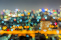 Out of focus big city. Lights stock images
