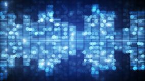 Out of focus blue music equalizer background Stock Image