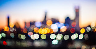 Out of focus blury bokeh city skyline lights. Out of focus blury bokeh city skyline  lights Royalty Free Stock Photos